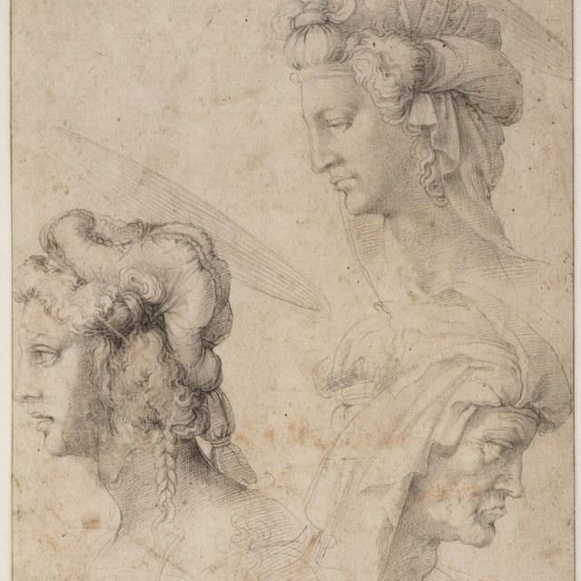 Drie vrouwenkoppen