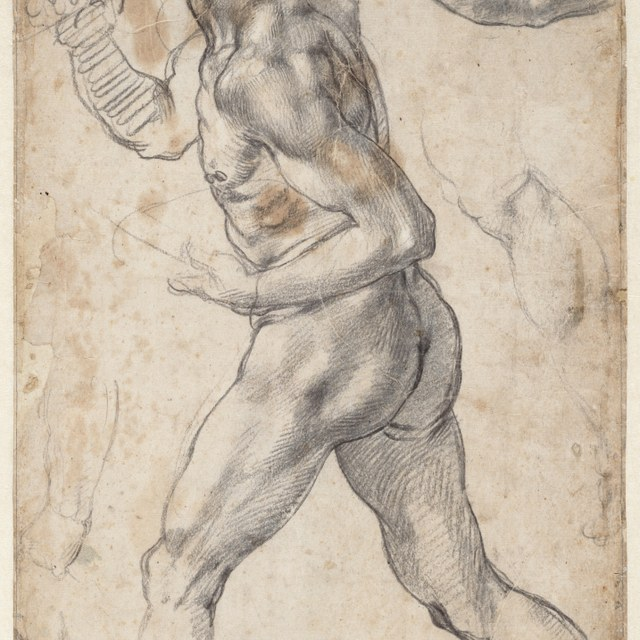 Figure study of a walking man