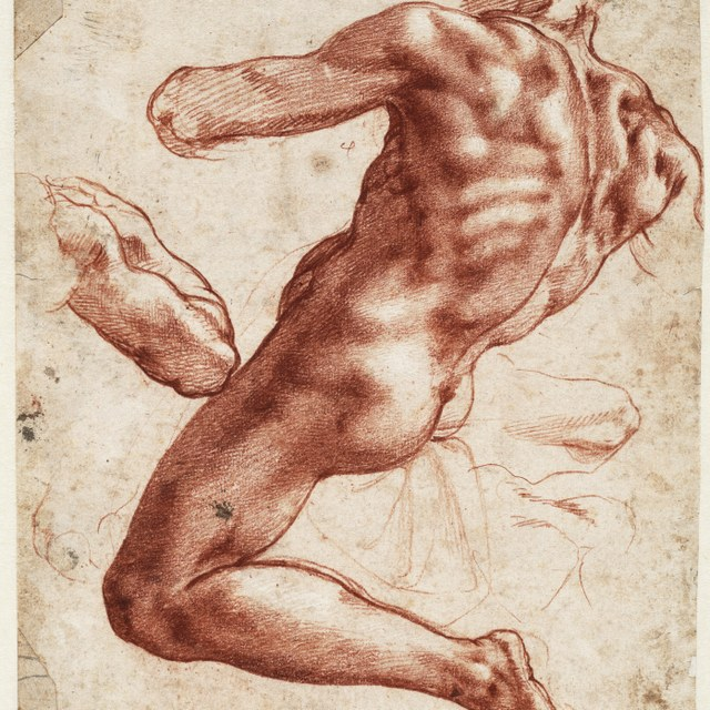 Figure study for an Ignudo in the Sistine Chapel