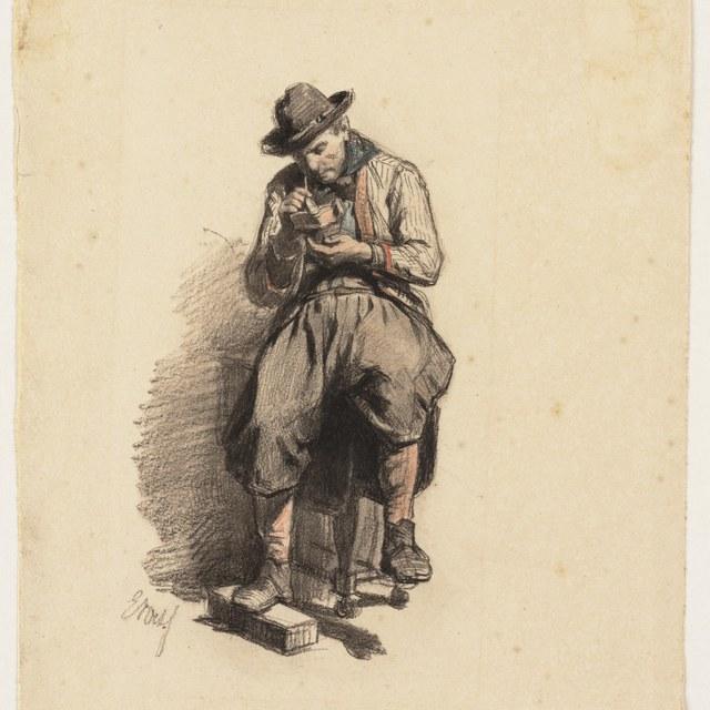 Twee vrouwen en een putto (studie voor een pendentief)