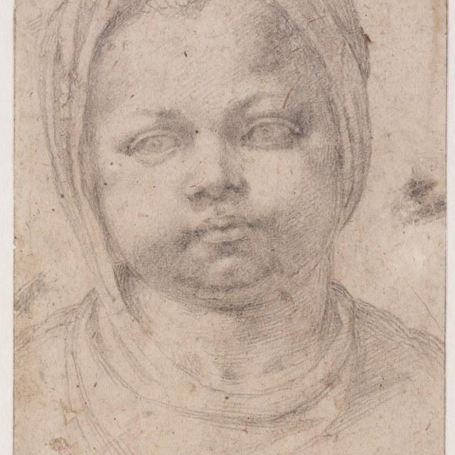 Kinderkopje met hoofddoek