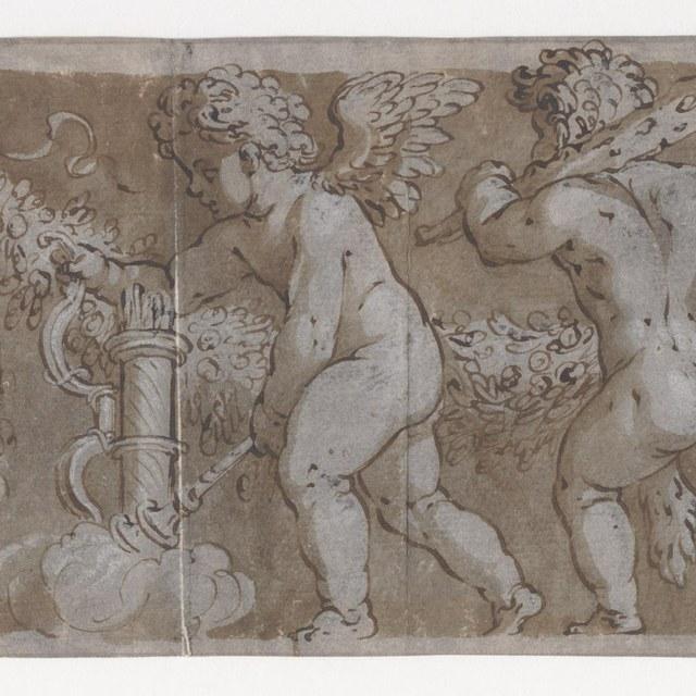 Twee tekeningen naar een fries (Polidoro)