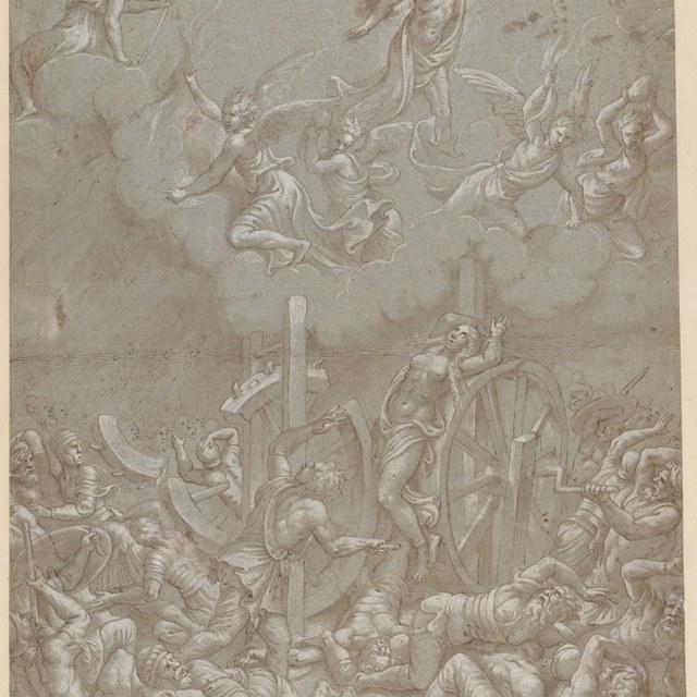 Christus verschijnt aan Katharina van Alexandrië tijdens haar marteling