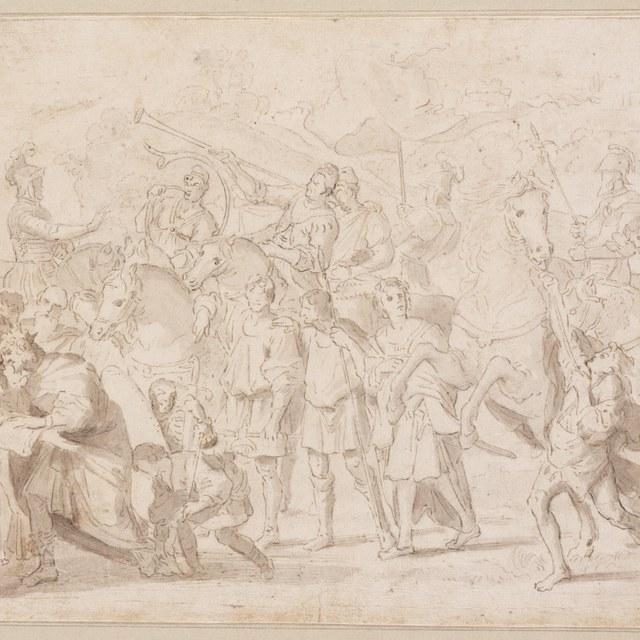 Ontmoeting van de heilige Nilus met keizer Otto III