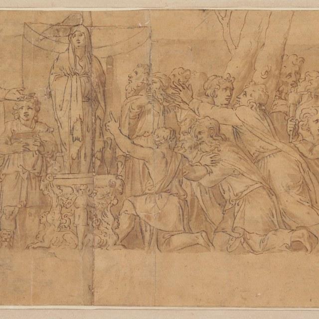 Offers gebracht aan het altaar van Niobe; Latona voor Apollo en Diana