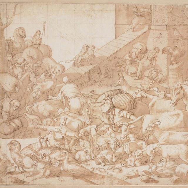 Intocht van de dieren in de Ark van Noach