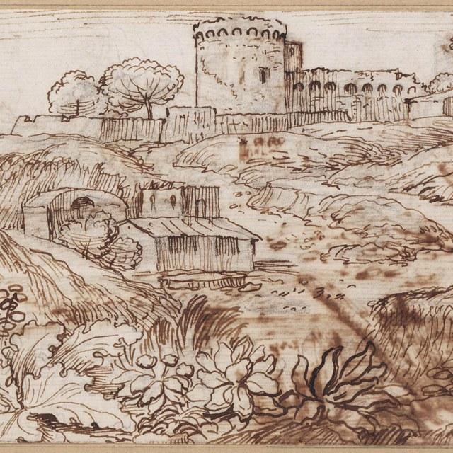 Landschap met fort