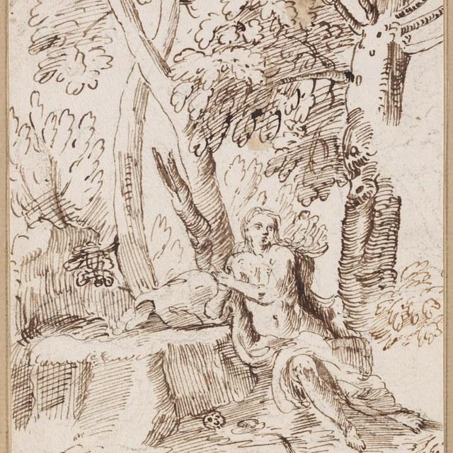 Maria Magdalena in landschap