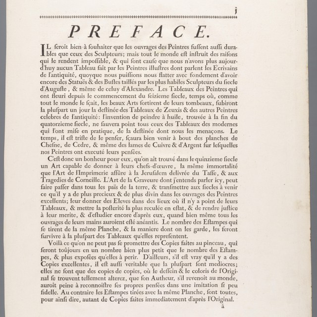 Titelblad en beschrijvende tekst bij bundel reproductiegrafiek