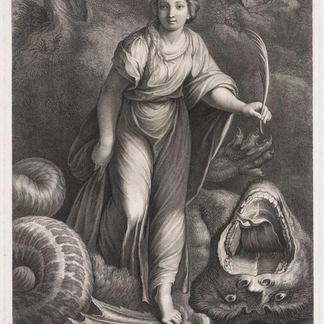 De heilige Margaretha triomfeert over de draak
