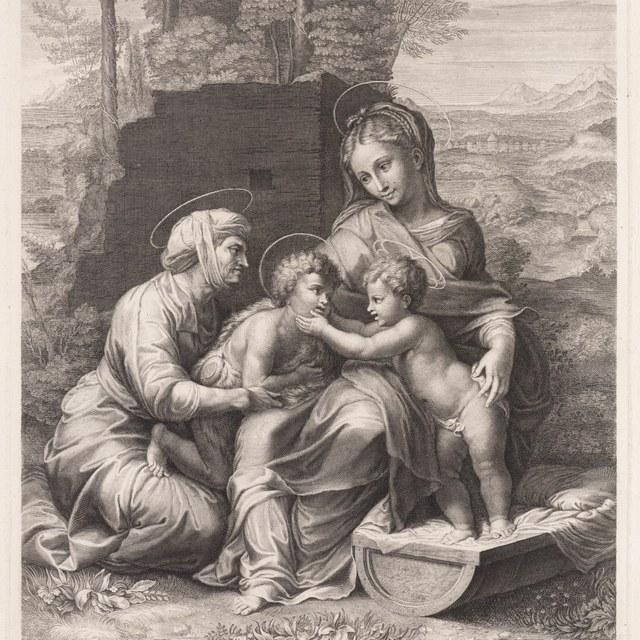 Maria met kind en de Heilige Elisabeth met Johannes de Doper