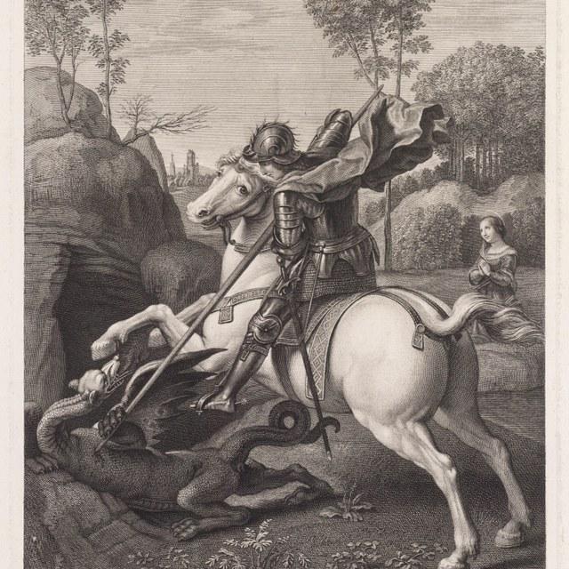 St. Joris doodt de draak