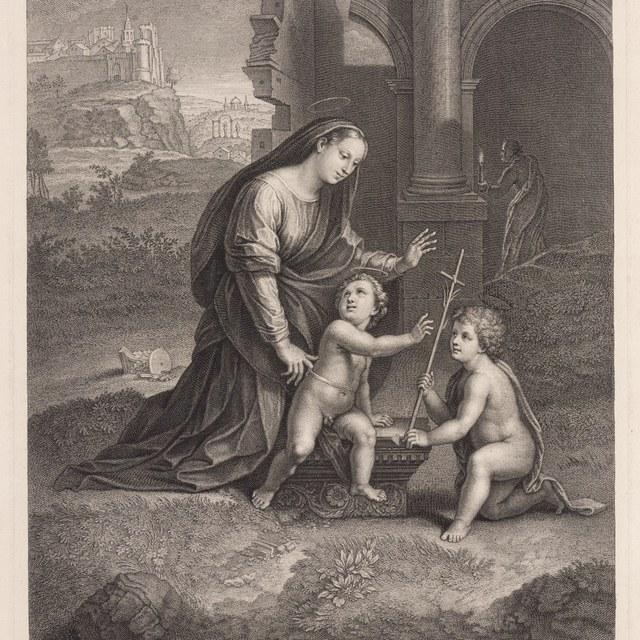 Maria met kind en Johannes de Doper