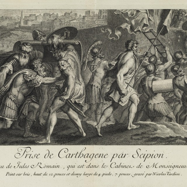 Inname van Carthago door Scipio