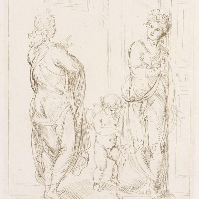 Aglauros weigert Mercurius ontmoeting met Herse