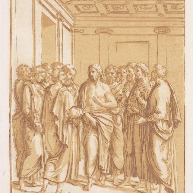 Christus temidden van zijn apostelen