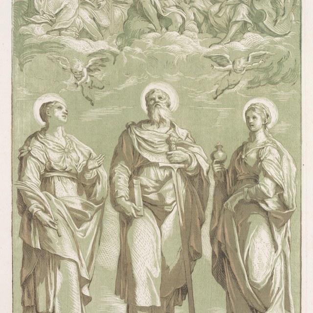 St.Paulus tussen twee heiligen