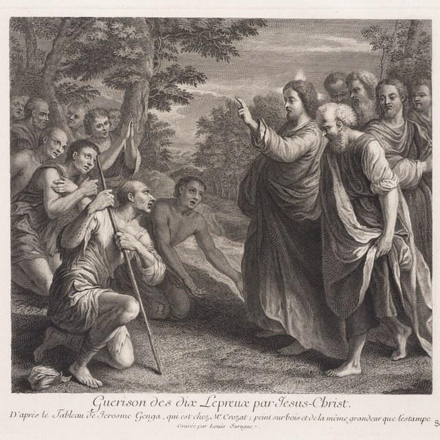 Jezus geneest de leprozen