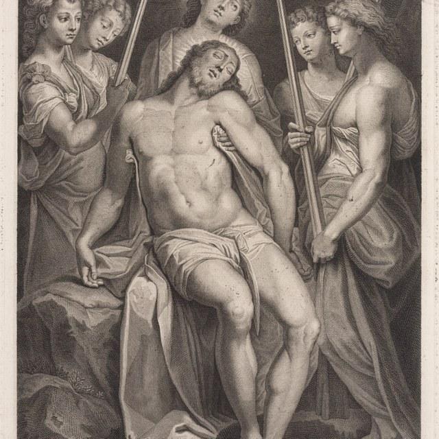 Jesus in de graftombe