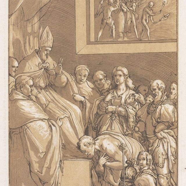Hendrik IV aan de voeten van paus Gregorius VII