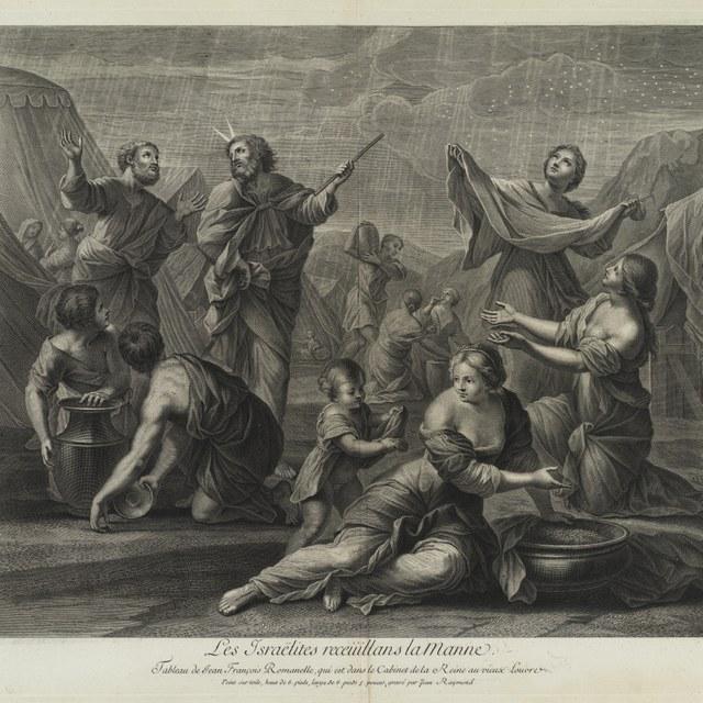 De Israëliten verzamelen de manna