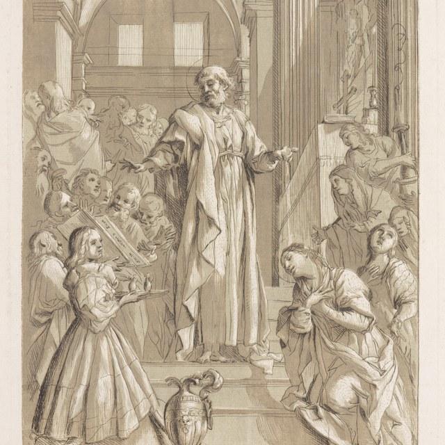 St. Petrus doopt de heilige Priscilla