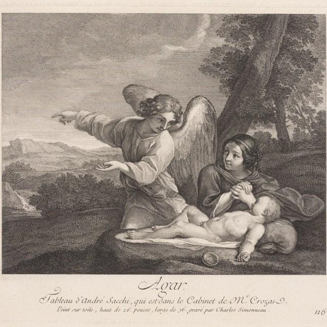 Hagar en Ismaël in de woestijn