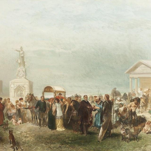 Bataafse marktplaats bij Katwijk