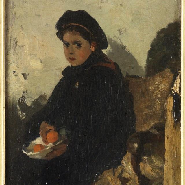 Meisje met sinaasappel (Leentje)