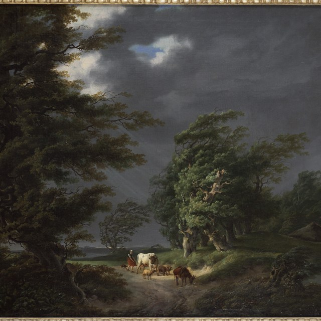 Landscape in stormy weather