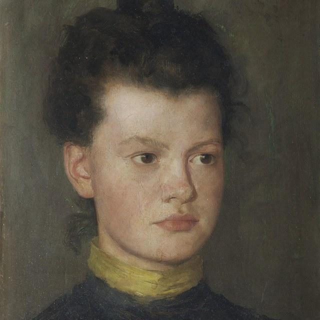 Portret Louise Rueter, zuster van de kunstenaar
