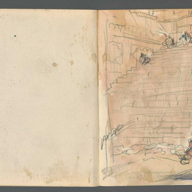 Schetsboekje, gebruikt in Egypte, 1919, met 16 bladen en 6 schetsen