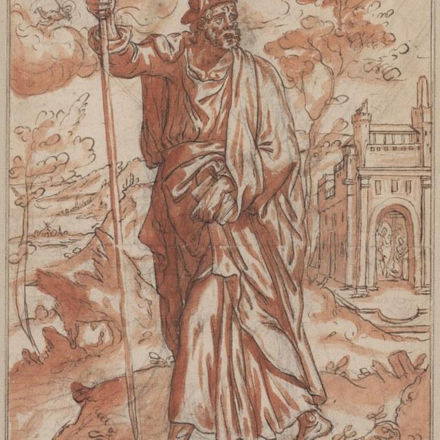 Jacobus de Meerdere met staf