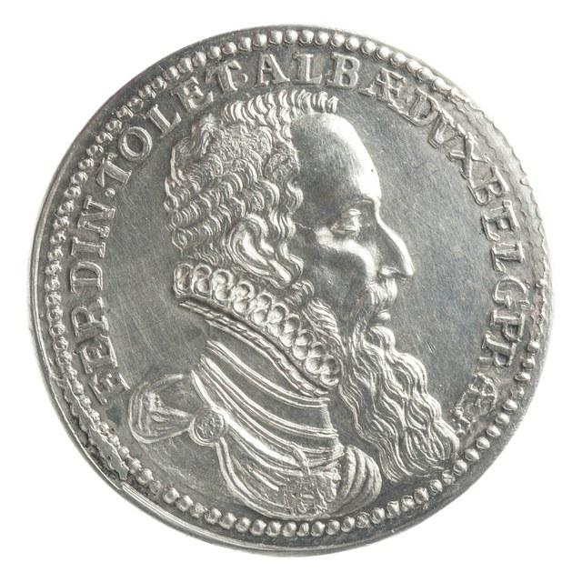 Ferdinand van Toledo, hertog van Alva, na zijn overwinning op graaf Lodewijk van Nassau (later werk).