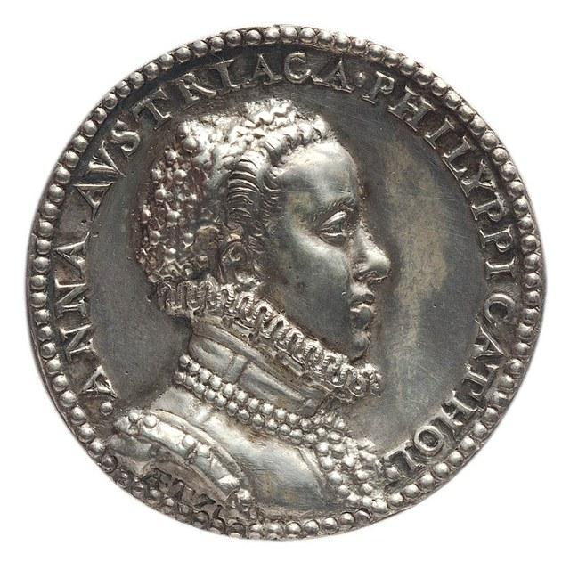 Huwelijk van Philips II, koning van Spanje, met Anna van Oostenrijk.