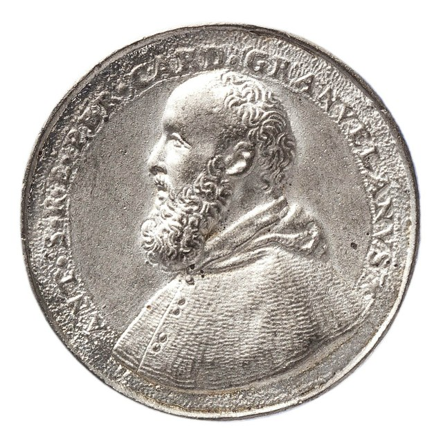 Overhandigen van de gewijde standaard door kardinaal de Granvelle aan Don Juan van Oostenrijk, opperbevelhebber van de Spaanse vloot (later werk).