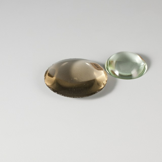 Pair of lenses, not mounted, plano-convex and double-convex