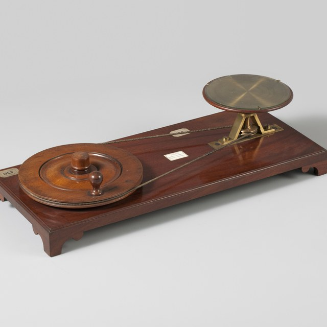 Demonstration device for Arago's rotating discs, after Dominique  François  Jean Arago (1824)