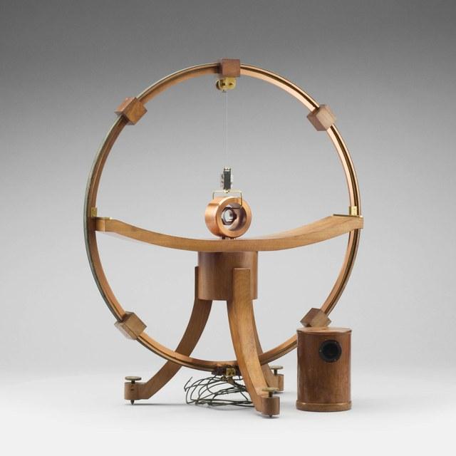 Tangent galvanometer with mirror