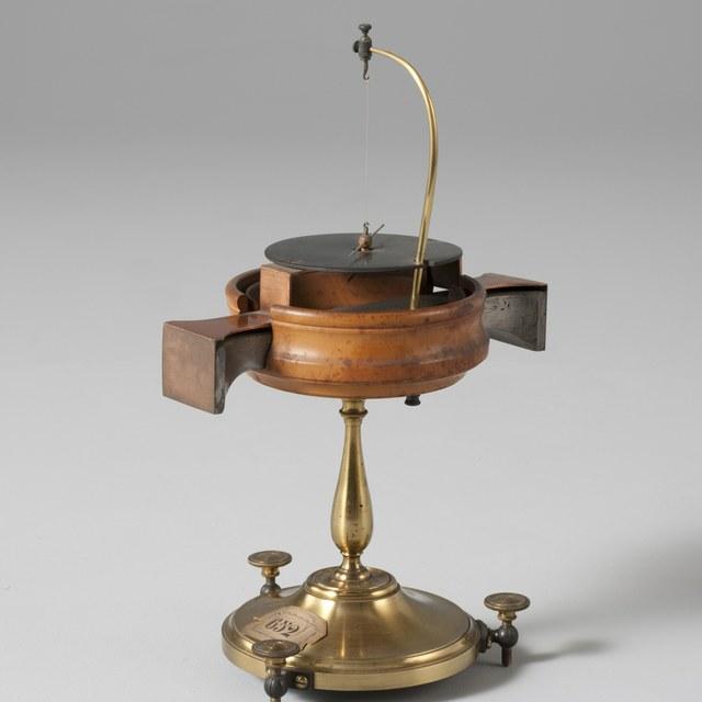 Thermo-elektroscoop, naar  Th.J. Seebeck (1821)