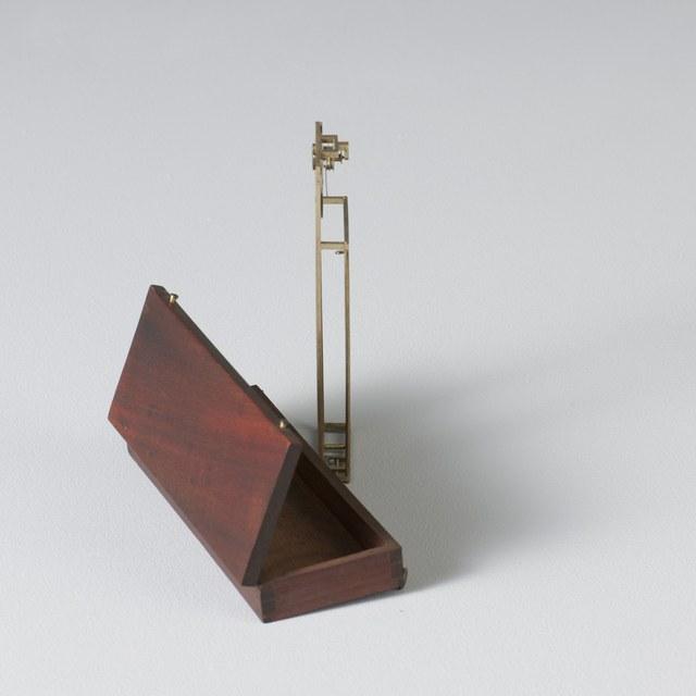 Whale bone hygrometer, after Jean-André de Luc (1775)