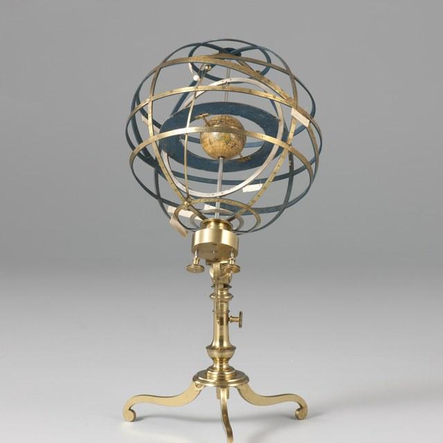 Armillary sphere, after J. Ferguson (1764)