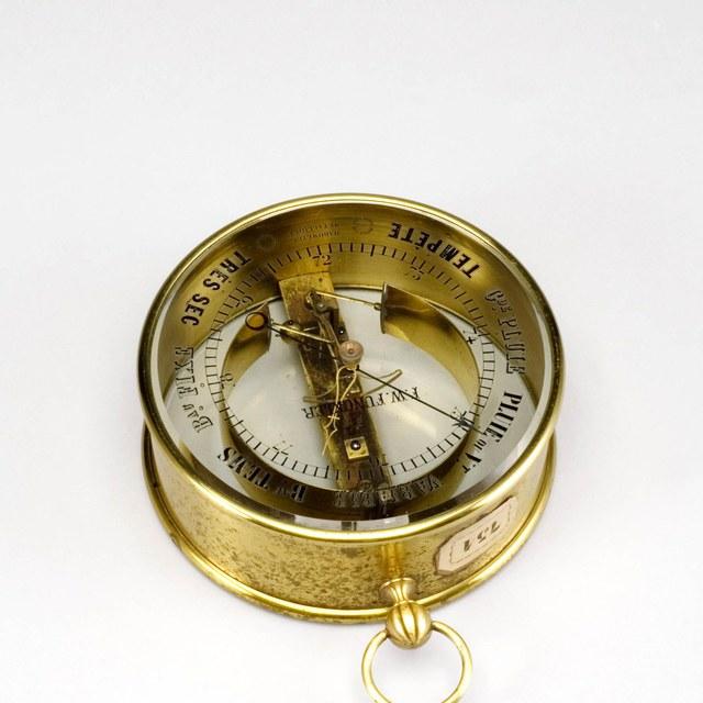 Aneroid barometer, after Bourdon