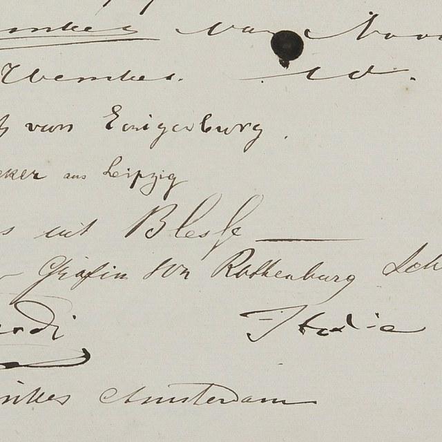 Beroemde bezoekers in Teylers Museum: Giuseppe Verdi, 1877