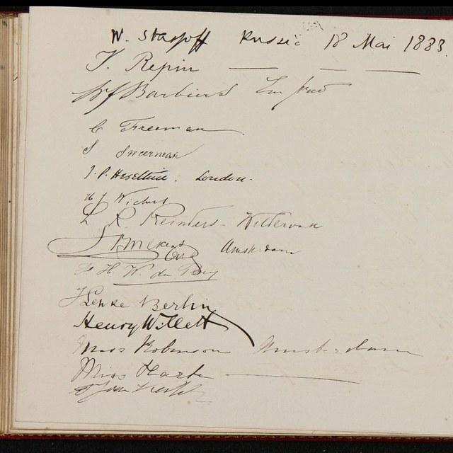 Beroemde bezoekers in Teylers Museum: Ilja Repin, 1883