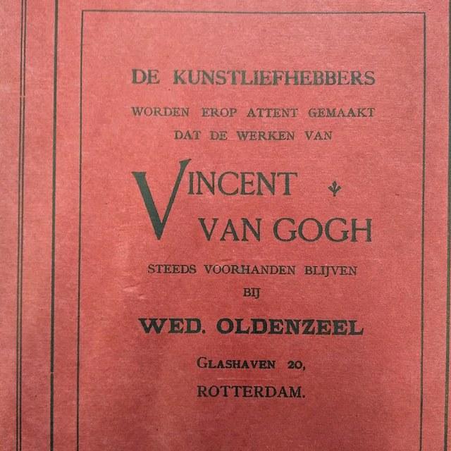 """""""De werken van Vincent van Gogh blijven steeds voorhanden"""""""