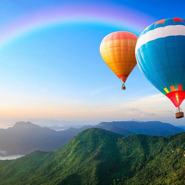 Varen in een luchtballon