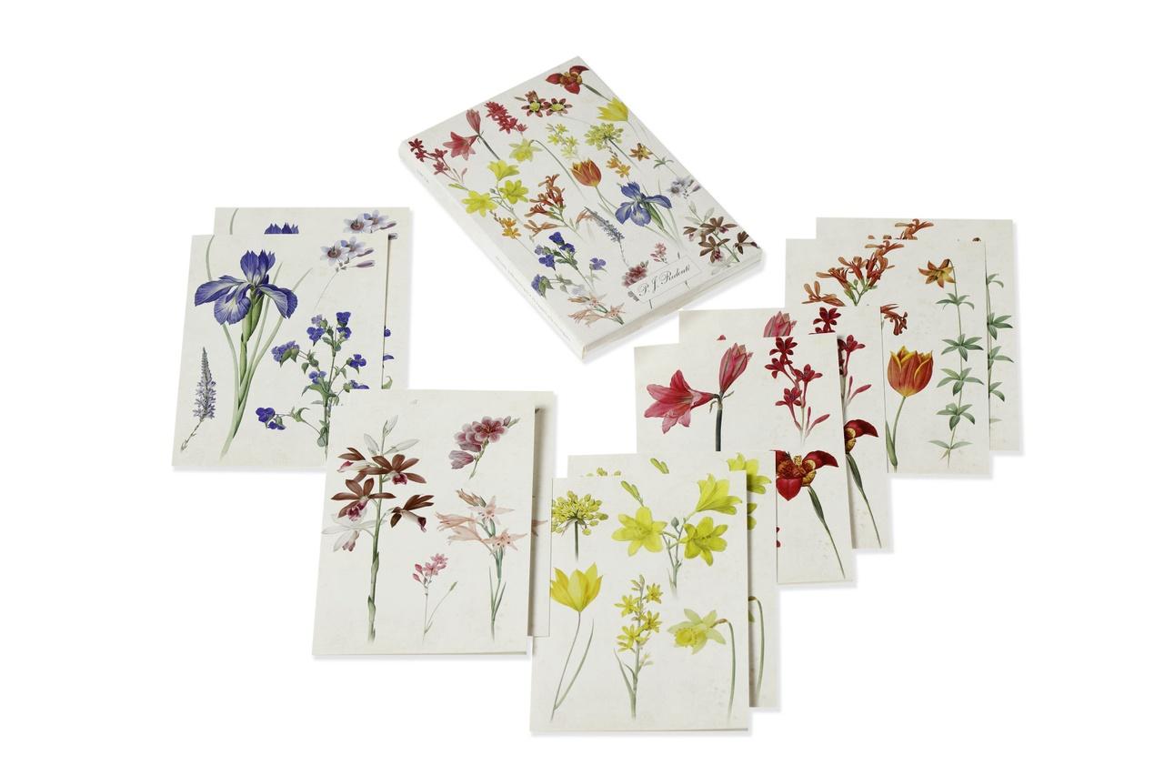 Kaarten met bloemen van Redouté