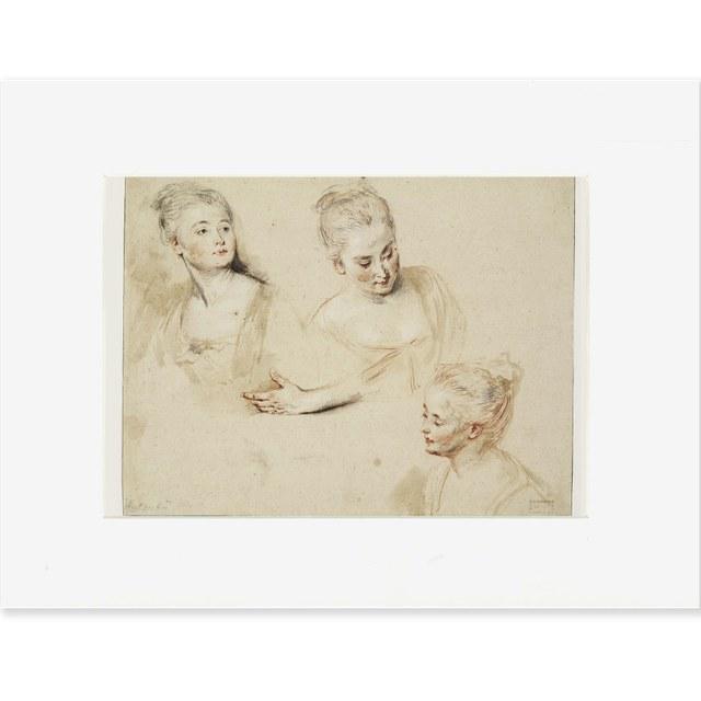 Reproductie Watteau