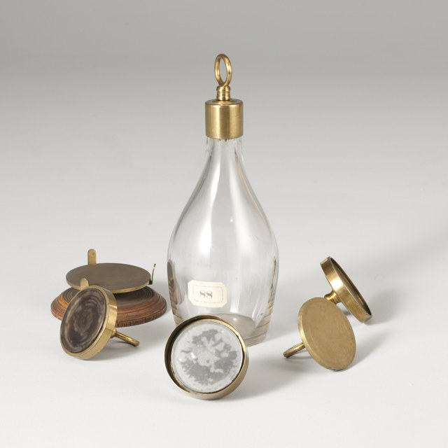 Glass flask with ground base